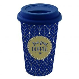 "Kelioninis puodelis ""But First Coffee"" (350 ml)"
