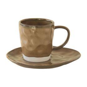 INTERIORS TERRACOTTA puodelis su lėkštele (250 ml)