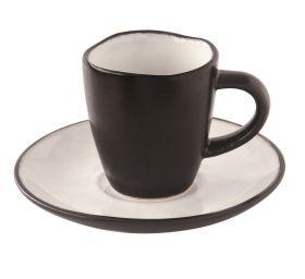 LIVING puodelis su lėkštele (80 ml)