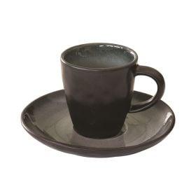 KOSMOS GREY puodelis su lėkštele (80 ml)