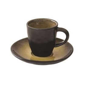 KOSMOS OCRA puodelis su lėkštele (80 ml)