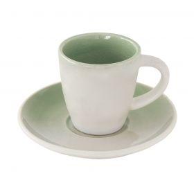 GOCCIA GREEN puodelis su lėkštele (80 ml)