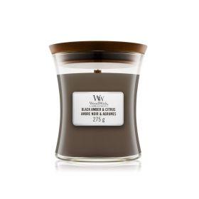 "WoodWick žvakė ""Black Amber & Citrus"""