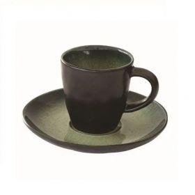 KOSMOS KIWI puodelis su lėkštele (80 ml)