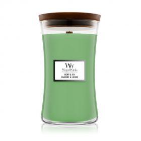 "WoodWick žvakė ""Hemp & Ivy"""