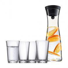 Grafinas (1 l) + stiklinės (4 vnt., 250 ml)