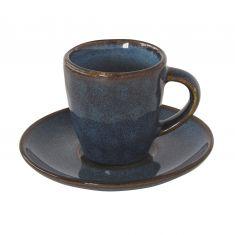 GENESIS BLUE puodelis su lėkštele (80 ml)