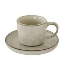 GOUNTRY NATURAL puodelis lėkštele (200 ml)