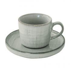 GOUNTRY GREY puodelis lėkštele (80 ml)