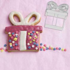 """Sausainių formelė """"Present"""" (8 cm)"""