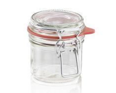 Stiklainis su užsegamu dangteliu (135 ml)