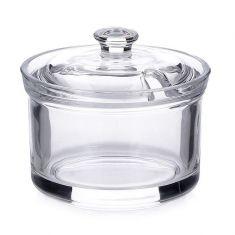 Stiklinė cukrinė su dangteliu