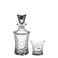 MOLECULES Rinkinys (grafinas ir 6 stikl.)