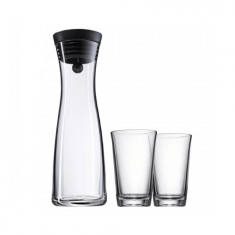 "Grafinas ""Basic"" (1 l) + stiklinės (2 vnt., 250 ml)"