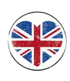 """Vonios kaištis """"UK Heart Red-Blue"""""""