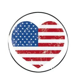 "Vonios kaištis ""USA Heart Red-Blue"""