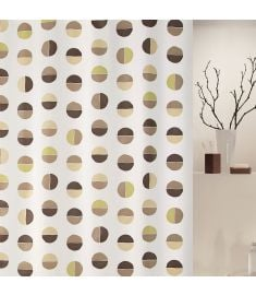 "Vonios užuolaida ""Diviso Natural-Green"" (180x200 cm)"