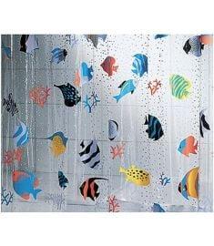 Vonios užuolaida FISH MULTICOLOR 180x200 cm