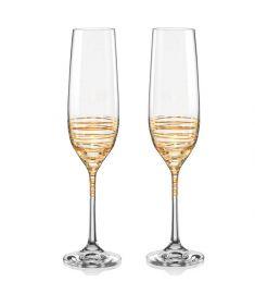 """Spiral"" dekoruotos taurės šampanui (190ml; 2vnt.)"