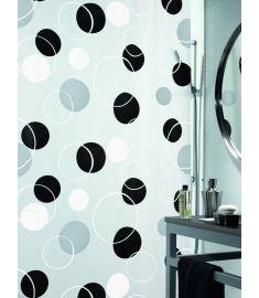 """Vonios užuolaida """"Bubble Black"""" (180x200 cm)"""