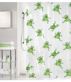 """Vonios užuolaida """"Frogtime Green"""" (180x200 cm)"""