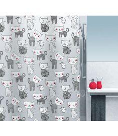 "Vonios užuolaida ""Mizzy Black"" (180x200 cm)"