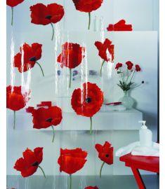 "Vonios užuolaida ""Poppy Cinnabar"" (180x200 cm)"